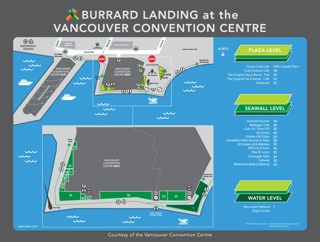 Burrard Landing map
